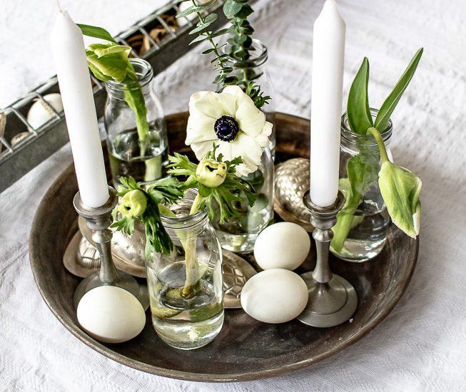 Ideen für eine wirklich einfache Frühlingsdekoration,                               die sogar für Ostern tauglich ist